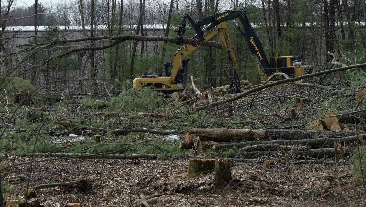 Trees are being cut and land cleared for the new Northway Church on the corner of Ushers Road and Van Patten Thursday March 30, 2017 in Clifton Park, N.Y. (Skip Dickstein/Times Union)