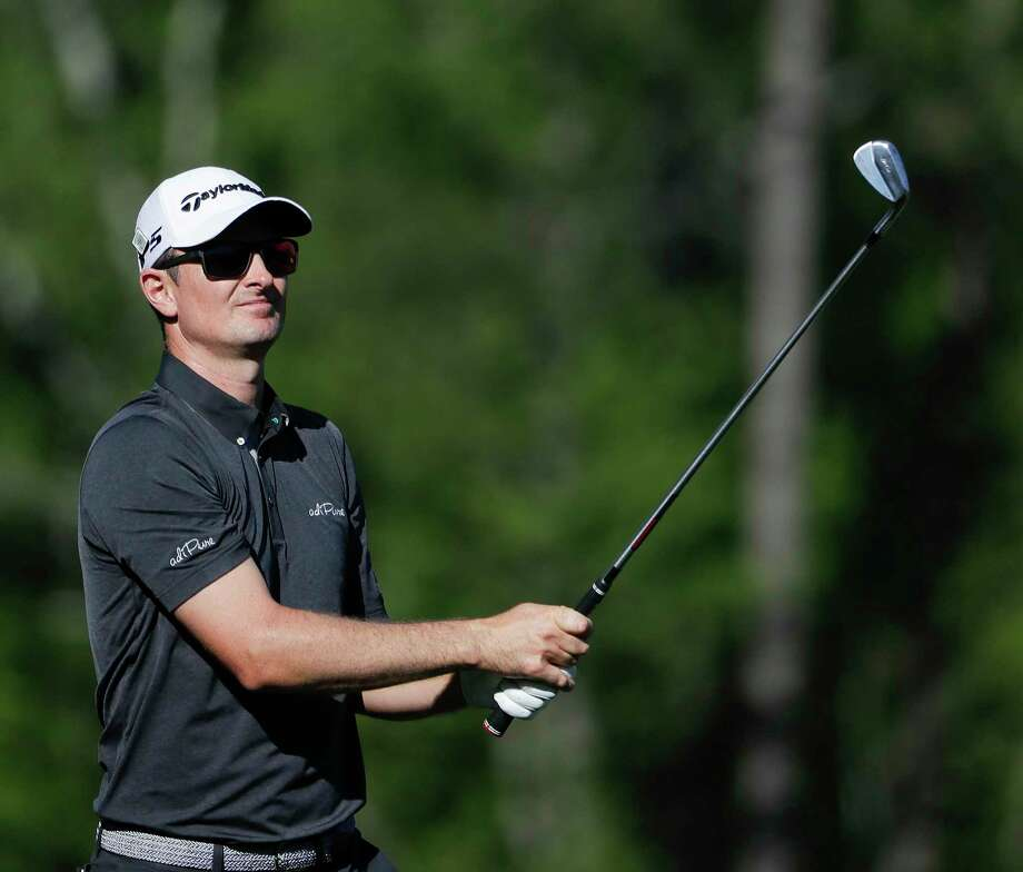 Justin Rose, of England, hits a shot on the 12th hole during the final round of the Masters golf tournament Sunday, April 9, 2017, in Augusta, Ga. Photo: David Goldman, AP / Copyright 2017 The Associated Press. All rights reserved.