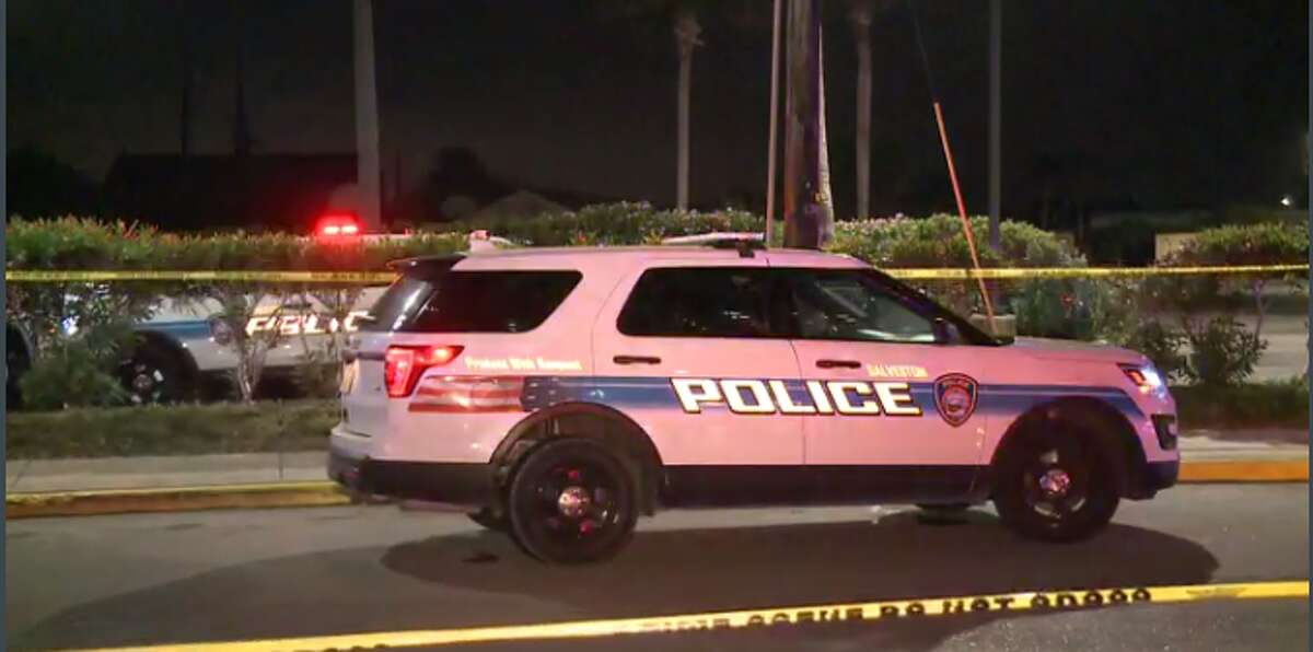 About three suspects are on the run after a security guard was shot Sunday night at the San Luis Hotel in Galveston. (Metro Video)