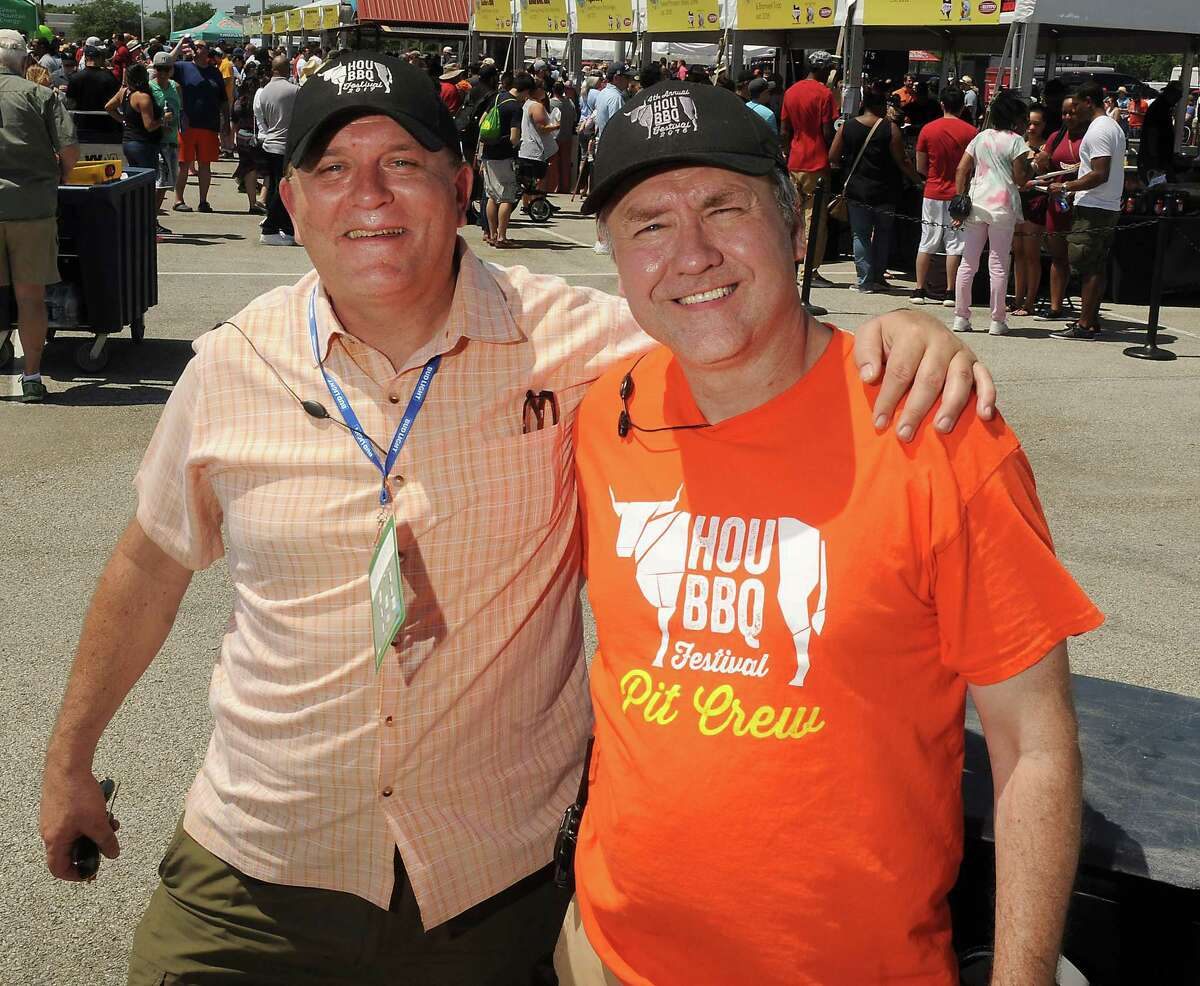 Founders Michael Fulmer and J.C. Reid at the Fifth Annual Barbecue Festival at NRG Park Sunday April 09, 2017.(Dave Rossman Photo)