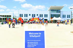 VillaSport Cypress, as seen from the street, during Saturday's Pre-Grand-Opening celebration. VillaSport, which is slated to open in August, will cater to a wide variety of athletic and health interests, including, says General Manager Herb Lipsman, Cy-Fair ISD's elite athletes.