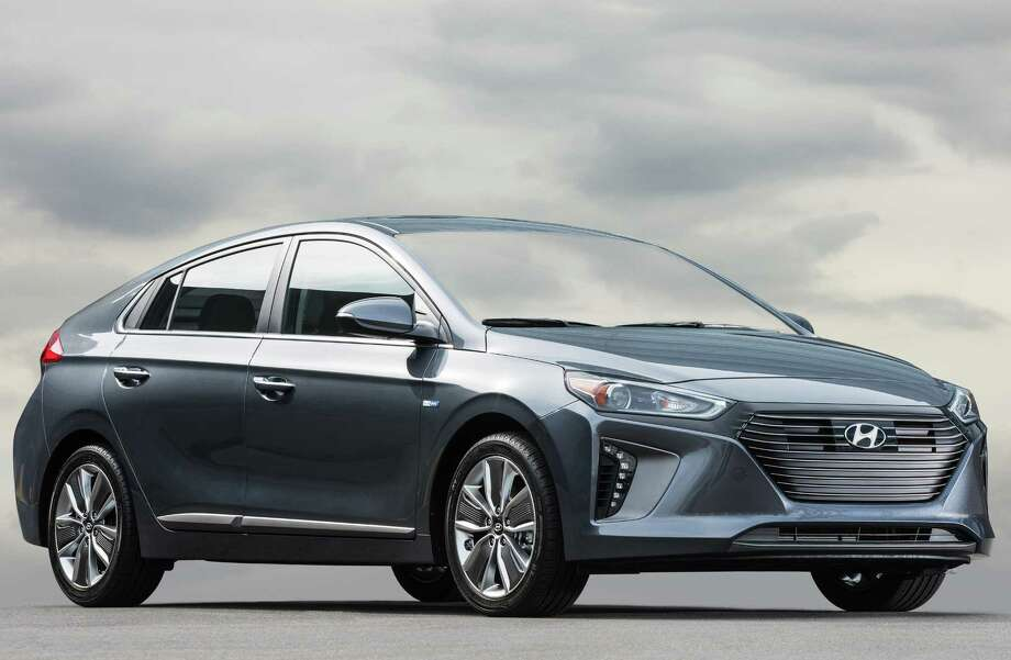 All new for 2017 is the Hyundai Ioniq Hydrid, which is similar to the Toyota Prius, but with better fuel economy -- up to 59 mpg in the city and 58 combined city/highway. The Ionic also will be offered in two other versions: a pure electric (EV) and a plug-in hybrid. The regular gasoline-electric hybrid, shown here, is already on sale nationwide with a starting price of $22,200. Photo: Hyundai Motor America / Copoyright 2013 Dewhurst Photography