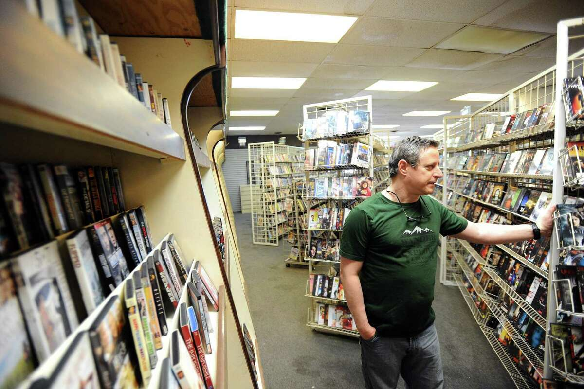 Wayne Wofsey owns Critic's Choice Videoon Hope Street, the area's last video store. Photographed on Wednesday, June 1, 2016.