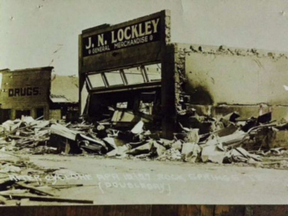 The Lockley general merchandise store in Rocksprings is seen in an undated photo taken shortly after the 1927 tornado that killed about 70 people and injured 200 more. Photo: COURTESY / COURTESY / COURTESY EDWARDS COUNTY HISTORICAL COMMISSION