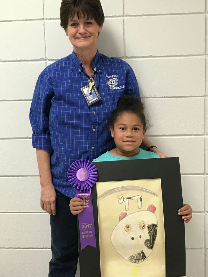 Congratulations to Brooklyn White for winning Best In Show at Houston Livestock Show and Rodeo. Brooklyn's artwork was chosen out of 440 children at Shepherd Primary to be displayed at Houston Livestock Show and Rodeo. Photo: Submitted
