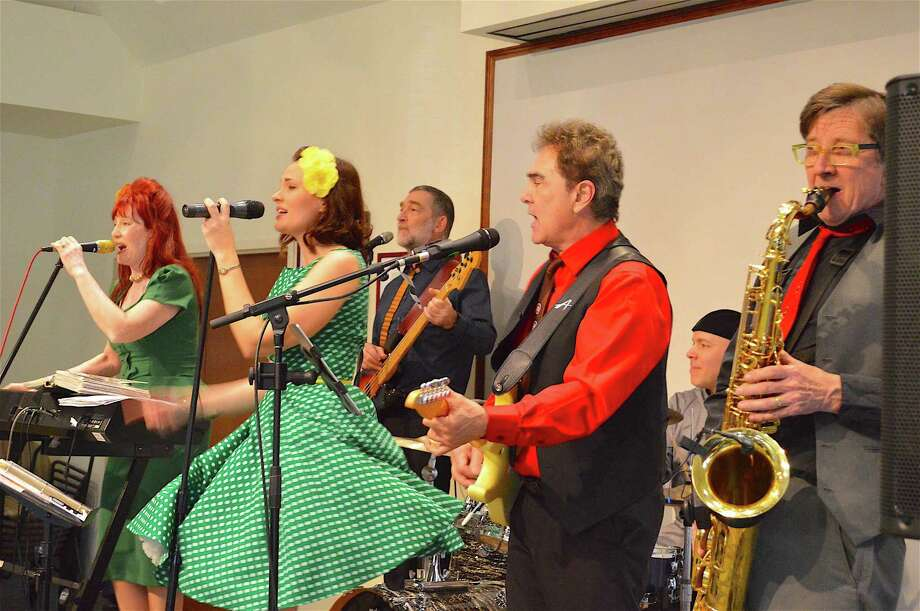 The six members of Eight to the Bar performed at the Westport Center for Senior Activities, Sunday, April 9, 2017, in Westport, Conn. Photo: Jarret Liotta / For Hearst Connecticut Media / Westport News Freelance