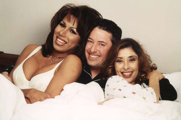 KTFM morning personalities Miss Ree, Drex and Roberta Varela during the morning show's heyday.