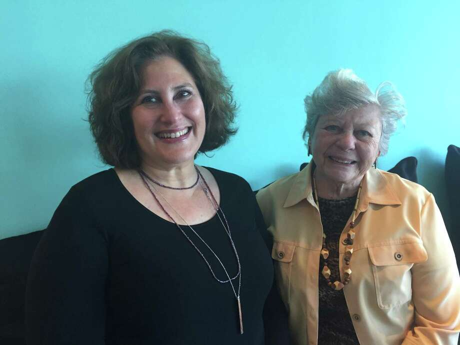 Sara Brook and Anna Steinberger have been paired up as a part of Holocaust Museum Houston's Connections, where a museum volunteer is paired up with a Holocaust survivor. Photo: Rebecca Hazen