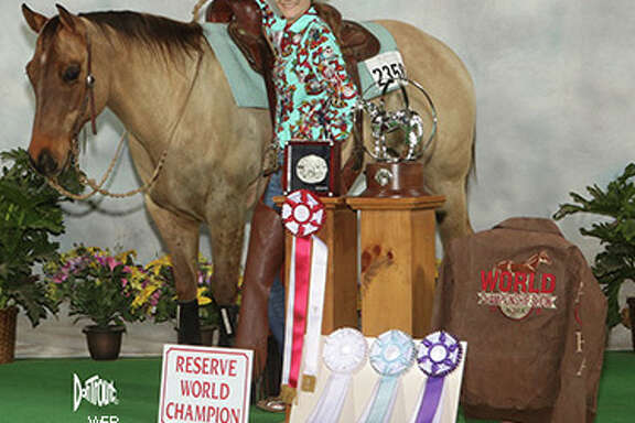 Needville High School sophomore Jordan Cheek, 16, is the 2016 Reserve World Championship Youth in the American Quarter Horse Association's Versatility Ranch Horse World show.