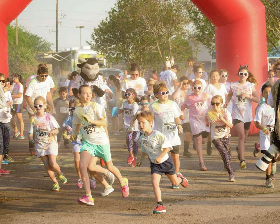 The Katy Color Run included a 1K Kids Dash. Photo: Tiffany Lanza