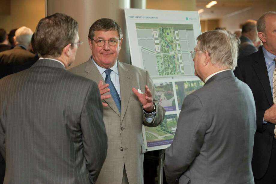 Stakeholders and public members recently met at an Energy Corridor District meeting to discuss the completion of the Park Row thoroughfare, as well as future investment into the Energy Corridor. Photo: Energy Corridor District