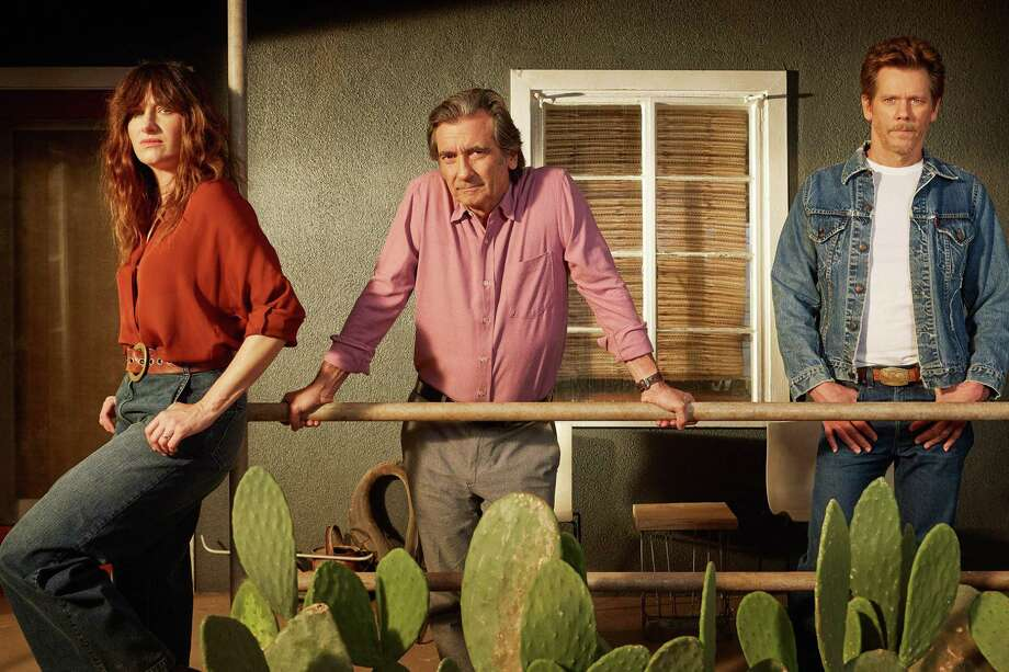 Kathryn Hahn, Griffin Dunne and Kevin Bacon, I Love Dick | Photo Credits: Leann Mueller, Amazon Studios