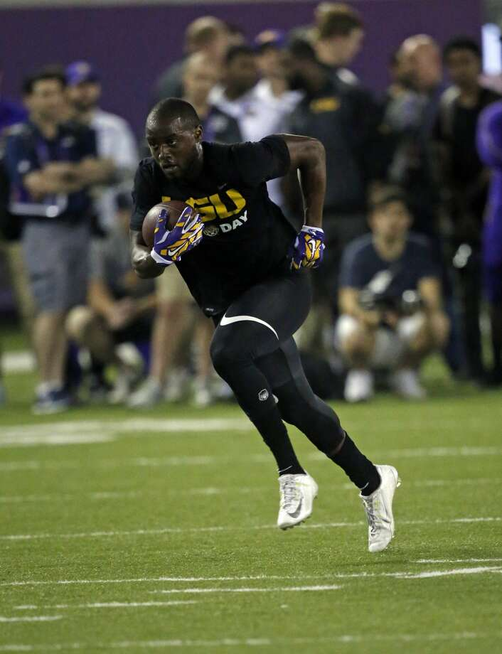 The Seahawks signed former LSU track star Cyril Grayson on Monday. Photo: Gerald Herbert/AP
