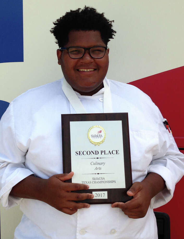 "Midland High School culinary arts student Zac Breaux won second place in technical cooking skills at the SkillsUSA State Conference, which was last week in Corpus Christi. ""The technical skills contest was seven hours long with six judges watching every move,"" according to Kim Evans, Midland ISD's Career and Technical Education director. Brayden Grey earned an excellent rating for his job exhibit of a decorated cake in the shape of a top hat with a rabbit sticking out of it, she said in an email.