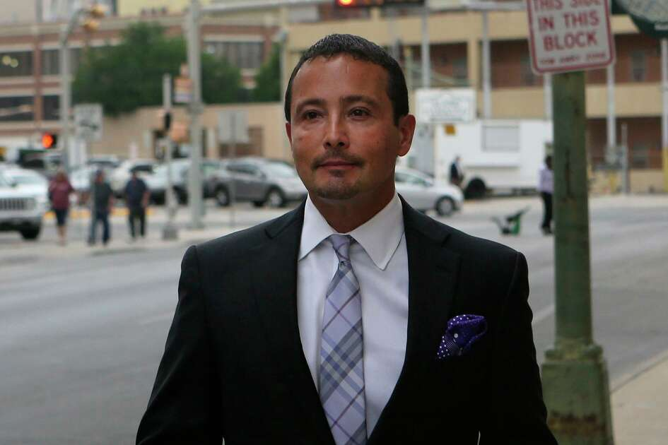 San Antonio oil and gas businessman Brian Alfaro is asking a bankruptcy judge to undo a seizure of his personal property. Alfaro is pictured in April 2017 during a trial where investors alleged he defrauded them. Nine investors obtained an $8 million judgment against him.