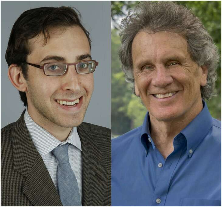 Evan Mintz (left) and Joe Holley were nominated as 2017 Pulitzer Prize finalists for editorial writing.