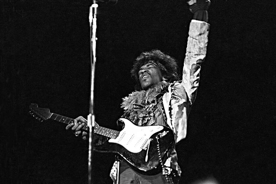 MONTEREY CA - JUNE 18: Jimi Hendrix performs onstage at the Monterey Pop Festival on June 18, 1967 in Monterey, California. (Photo by Michael Ochs Archives/Getty Images) Photo: Michael Ochs Archives
