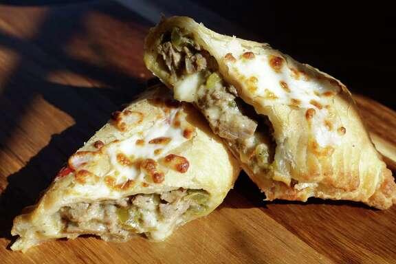 "Beef fajita ""croissants"" are among the idiosyncratic pastries at The Original Kolache Shoppe."