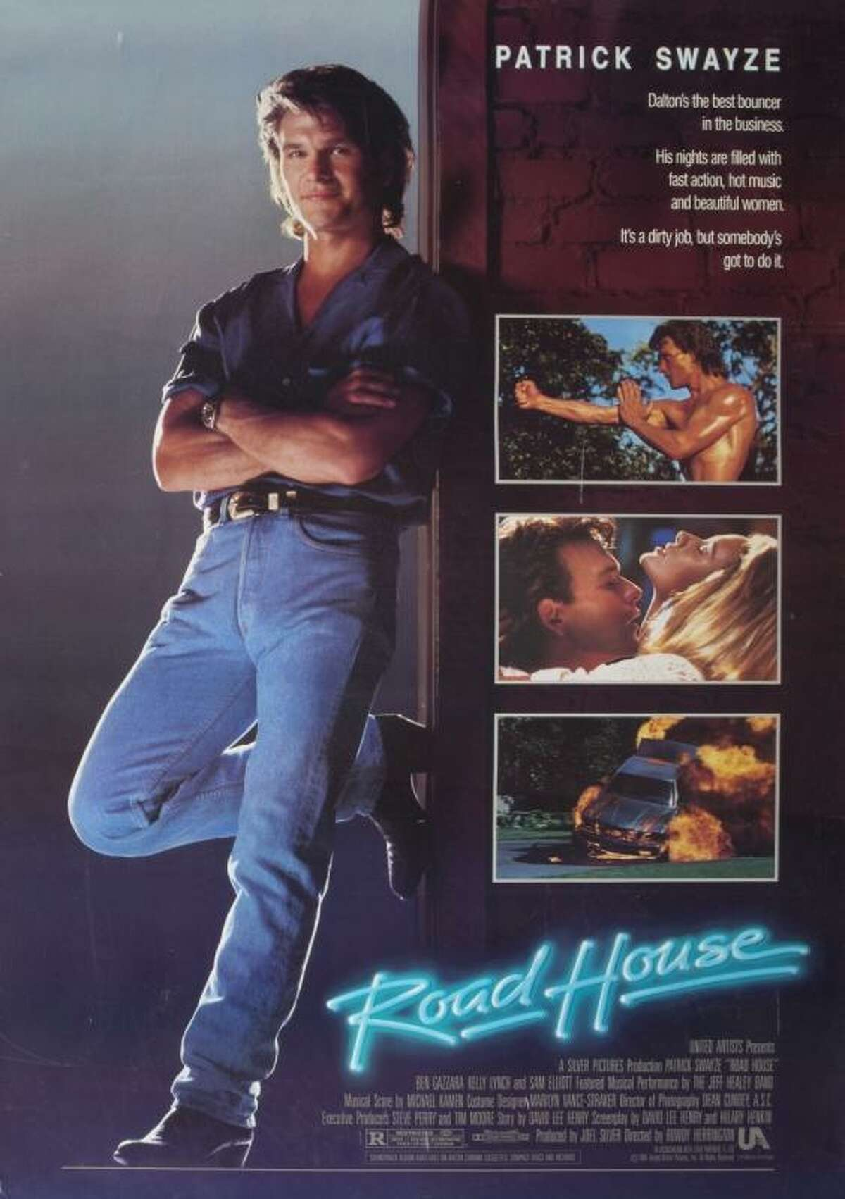 Items from the estate auction of Patrick SwayzeLot 136 includes a poster, record album, canvas tote bag, wristwatch, baseball cap and board game, allrelating to the film