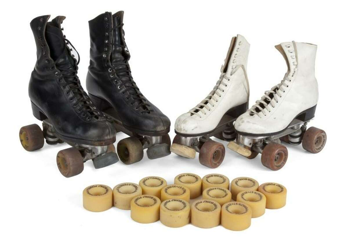 Lot 110: Skatetown U.S.A. roller skates Estimate: $600 - $800 Note: Worn by Patrick Swayze and his wife, Lisa Niemi, at Flipper's Roller Rink in Los Angeles during the premiere party for the film