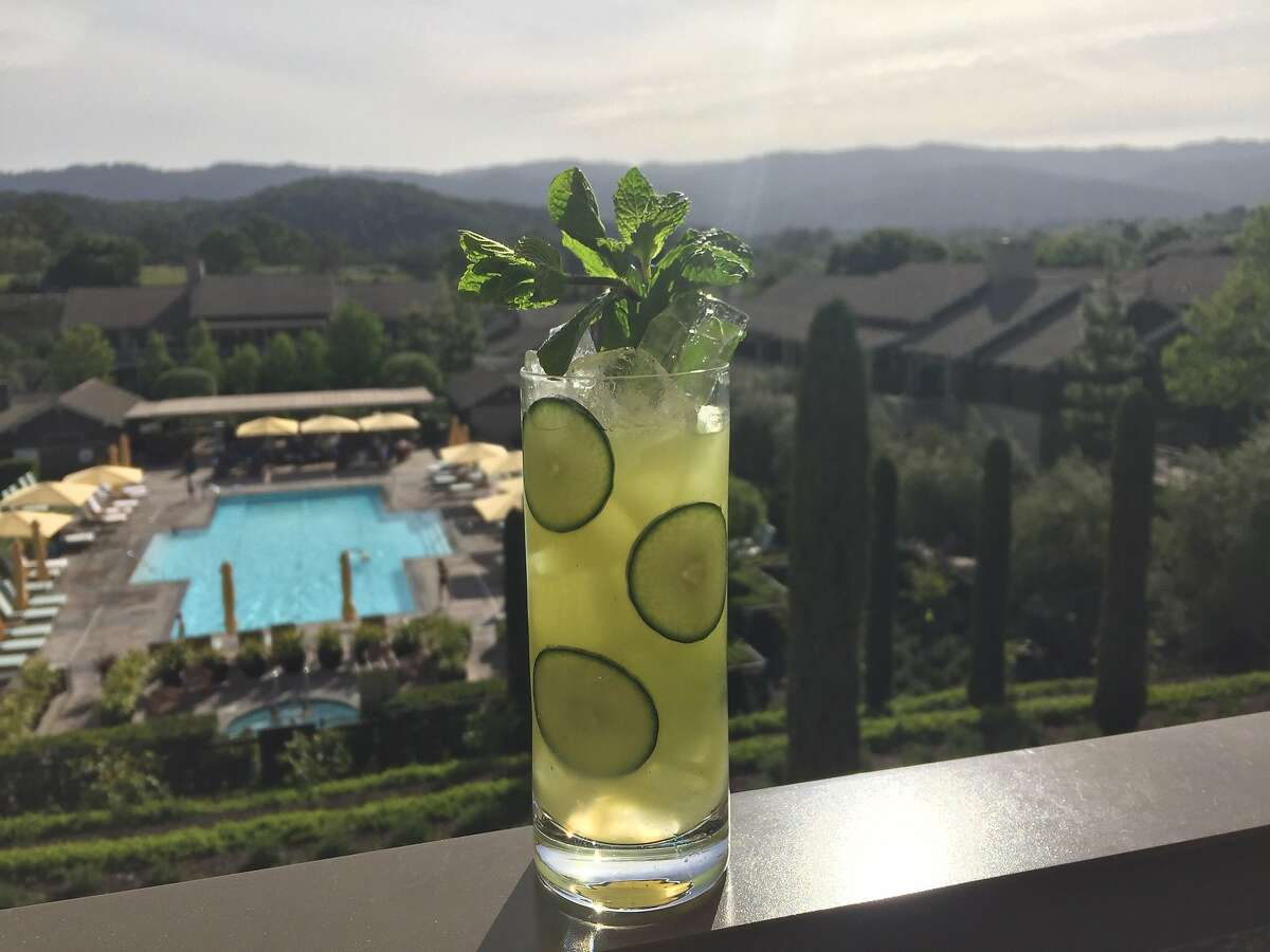 """The Hendricks Cucumber Cooler, at the Rosewood Sand Hill hotel, has been named after the fictional character Richard Hendricks of HBO's """"Silicon Valley"""" TV series, just in time for the premiere of show's fourth season April 23."""