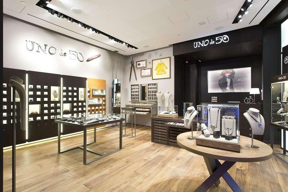 Spanish jewelry retailer Uno de 50 opened recently at Westfield mall in S.F. Photo: Uno De 50