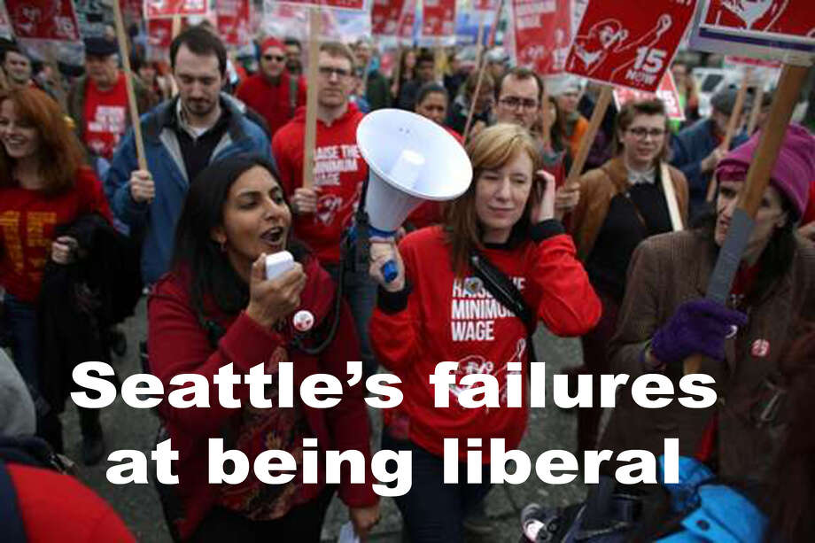 Seattle has a reputation for being oh so liberal, but are we really? Through a highly unscientific poll, we came up with a few ways the Emerald City has dropped the ball at being a true bastion of liberalism.  Photo: JOSHUA TRUJILLO / SEATTLEPI.COM