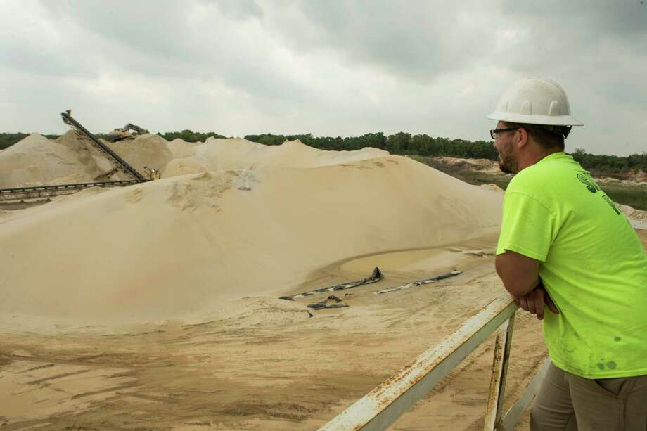 Plant manager David Heagle looks across the Superior Silica Sands sand mine in Kosse, Texas. Demand for sand is surging as oil and gas production in the Permian Basin is booming again. Photo: Brett Coomer, Staff / © 2017 Houston Chronicle