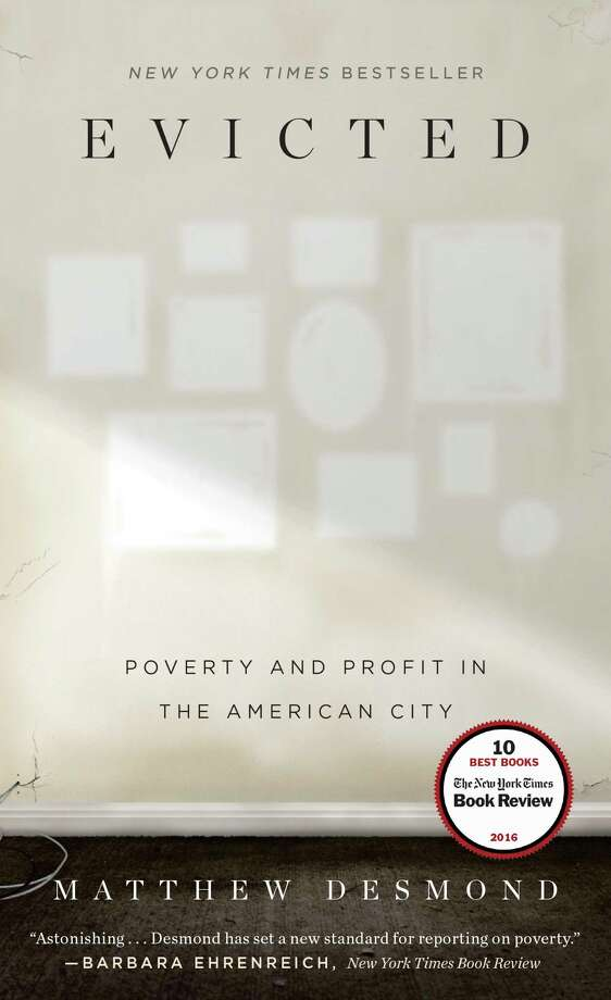 """This book cover image released by Crown shows, """"Evicted: Poverty and Profit in the American City,"""" by Matthew Desmond. The book was awarded the Pulitzer Prize on Monday, April 10, 2017 for general non-fiction. (Crown via AP) ORG XMIT: NYET131 / Crown"""