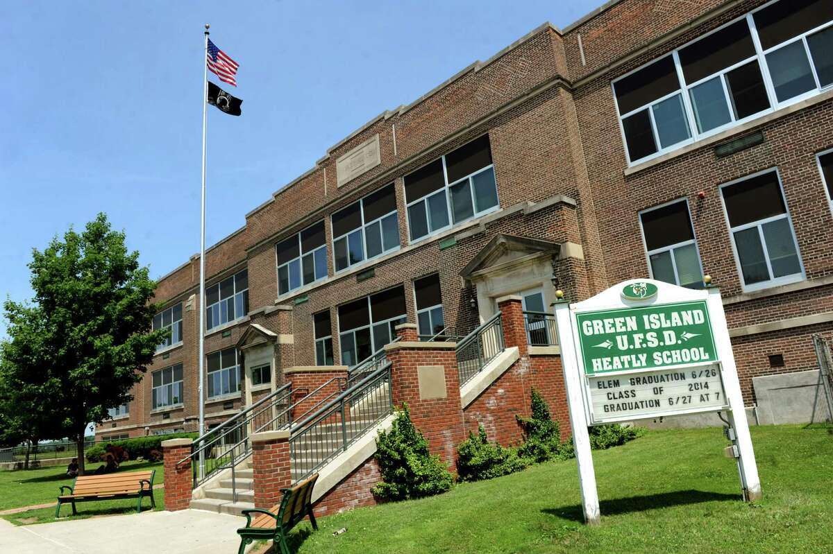 Heatly School on Tuesday, June 17, 2014, in Green Island, N.Y. The Green Island School District will lose state aide in 2017-2018. (Cindy Schultz / Times Union)