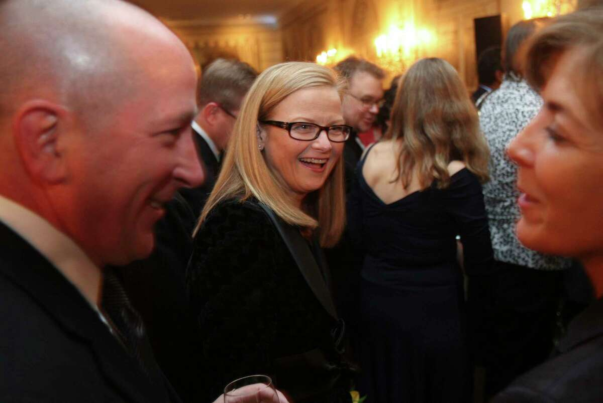 FILE-- Carrie Tolstedt, of Wells Fargo, at the Most Powerful Women in Banking gala in New York, Oct. 6, 2010. Wells FargoÂ?'s board said April 10, 2017, that it would claw back an additional $75 million in compensation from the two executives on whom it pinned most of the blame for the companyÂ?'s sales scandal: Tolstedt and the bankÂ?'s former chief executive, John Stumpf. (Hiroko Masuike/The New York Times)