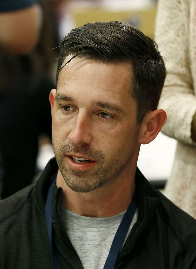 San Francisco 49ers head coach Kyle Shanahan answers a question from a reporter during the NFC Head Coaches Breakfast at the NFL football annual meetings Wednesday, March 29, 2017, in Phoenix. (AP Photo/Ross D. Franklin) Photo: Ross D. Franklin, Associated Press
