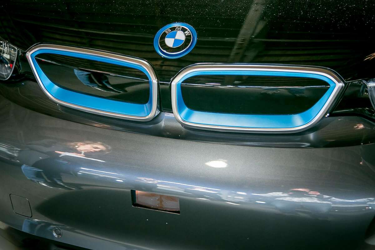 The Lidar sensor in the bumper of a BMW developed by Luminar at Pier 35 in San Francisco, Calif., on April 10th, 2017.