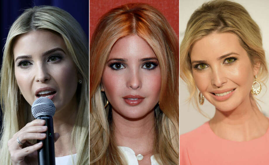 Ivanka Trump's eye color remains a mystery as multiple photos show her sporting different colored eyes. Photo: Getty Images