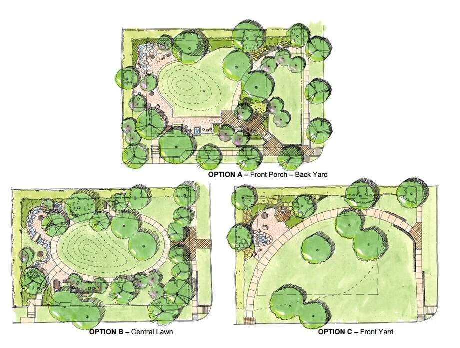 """Residents of West U will pick from three designs for Jennie Hughes Park, a new """"quiet park"""" on land that was donated to the city. Click through the slideshow to see the designs in greater detail. Photo: White Oak Studio Landscape Architecture"""