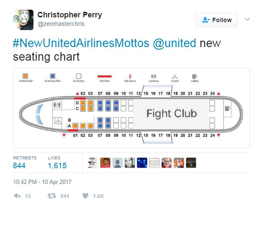#NewUnitedAirlinesMottosTwitter users have come up with a new hashtag to describe United Airlines' pubic relations disaster. Click through to see how Twitter has roasted United Airlines.@zenmasterchris Photo: @zenmasterchris