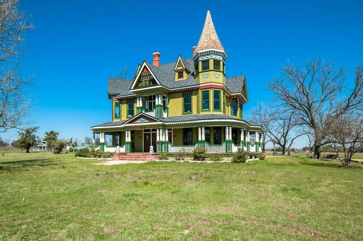 Exquisite Victorian details flood this Texas home up for sale in Dublin. While you wouldn't expect to see this home in the Lone Star State countryside, it's got features of Texas culture including 18 acres to explore, a 2-story horse barn and a greenhouse.