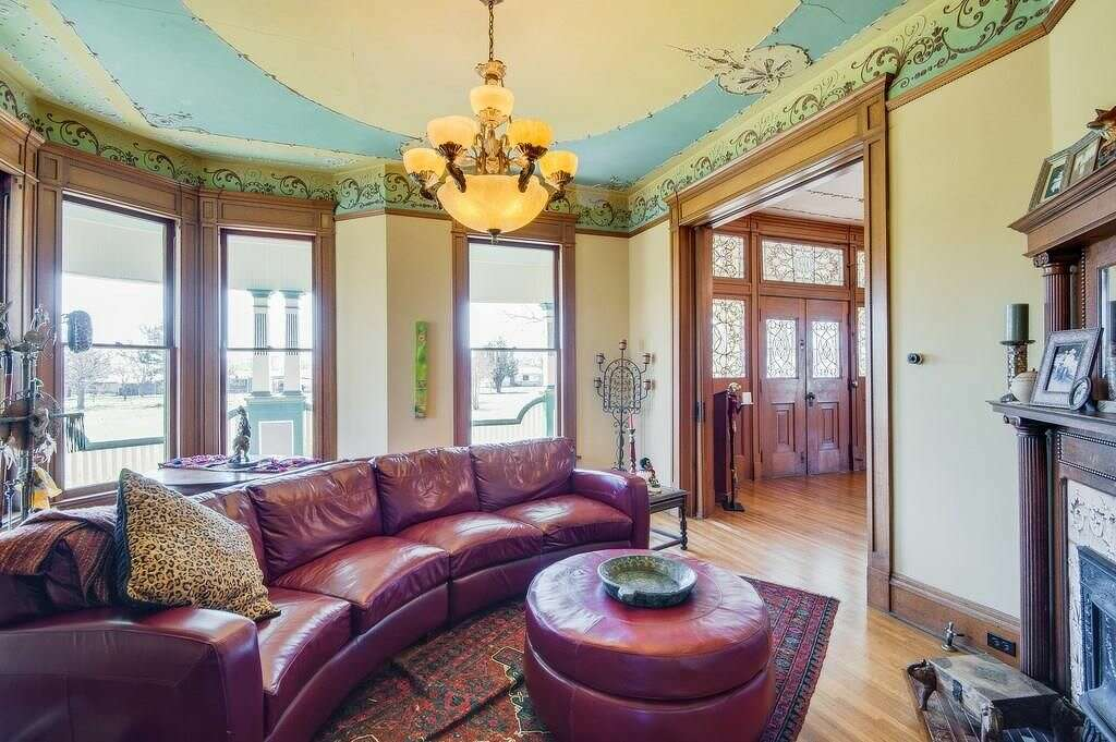Exquisite Victorian Details Flood This Texas Home Up For Sale In Dublin.  While You Wouldn