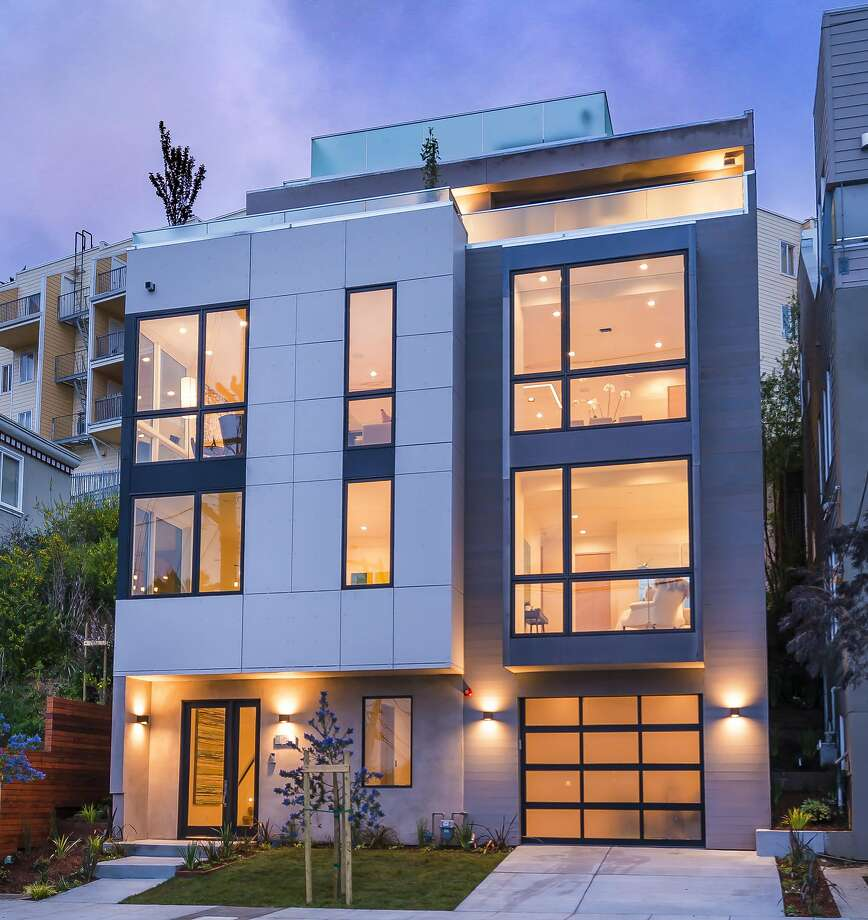 1644 Diamond St. in Noe Valley is a four-level four-bedroom available for $3.895 million.  Photo: Olga Soboleva / Vanguard Properties
