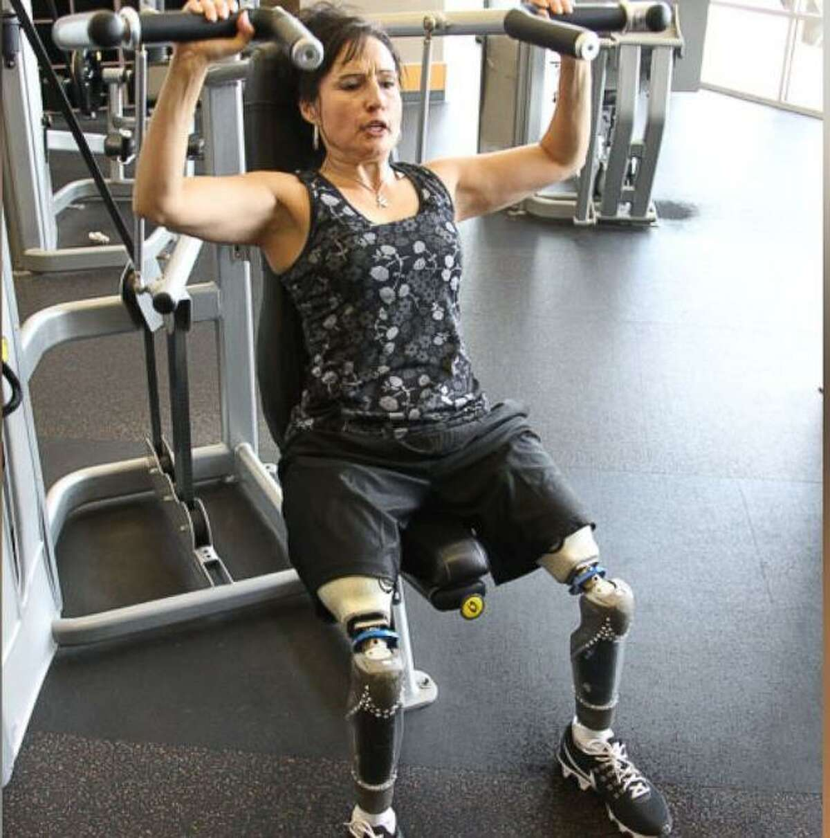 Yvonne Llanes of San Antonio, a double amputee who has an inspiring story, was celebrated in a TV feature on