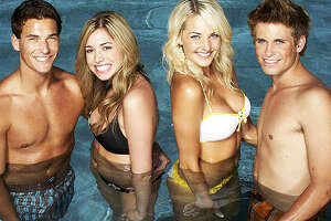 """Clay Adler, left, with fellow castmates of MTV's """"Newport Harbor: The Real Orange County."""""""