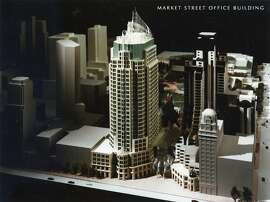 The Olympia & York tower by Cesar Pelli,  proposed for Yerba Buena Gardens in 1986  Photo ran 03/02/1993, p A13  Handout