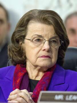 United States Senator Dianne Feinstein (Democrat of California), Ranking Member, US Senate Judiciary Committee, listens as Judge Neil Gorsuch testifies before the committee on his nomination as Associate Justice of the US Supreme Court to replace the late Justice Antonin Scalia on Capitol Hill on Wednesday, March 22, 2017 in Washington, D.C. (Ron Sachs/CNP/Sipa USA/TNS)