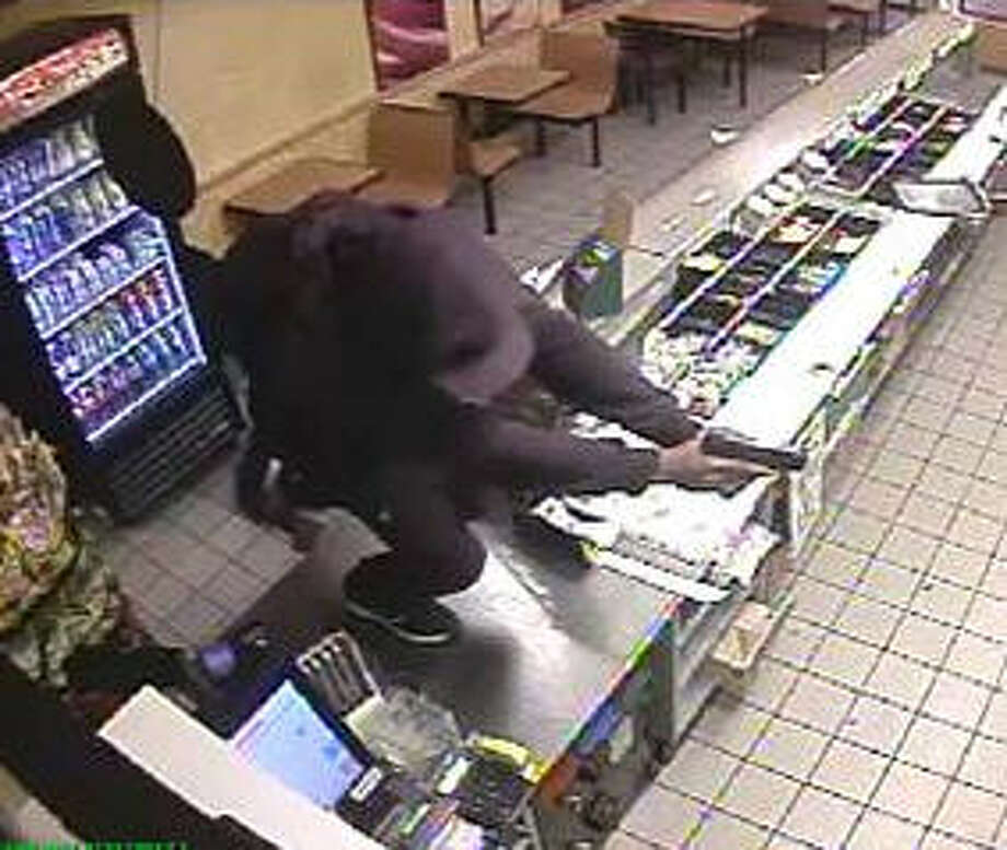 Four men are being sought after investigators say they robbed a Subway sandwich shop in the Sugar Land area of Fort Bend County.