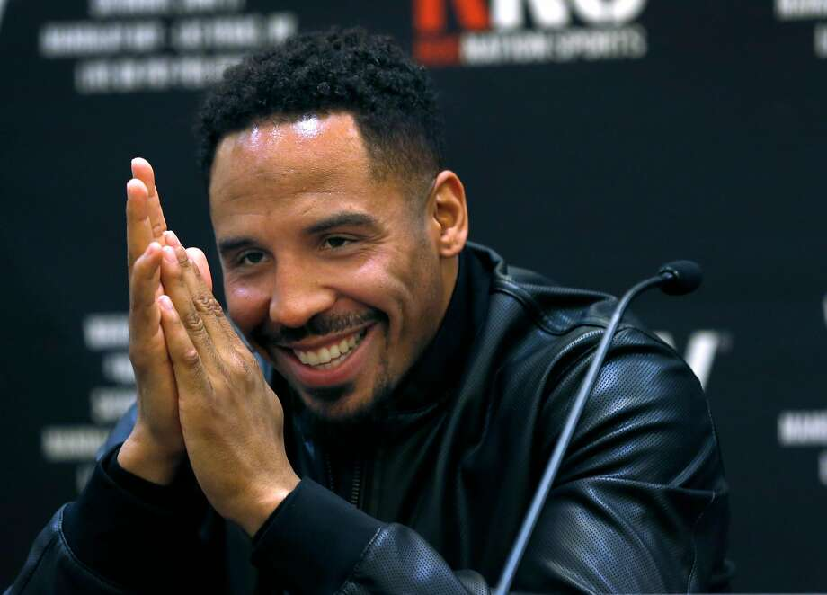 Andre Ward appears at a press conference with Sergey Kovalev in Oakland, Calif. on Tuesday, April 11, 2017 to promote a rematch of their light heavyweight boxing championship bout in Las Vegas on June 17. Photo: Paul Chinn / The Chronicle
