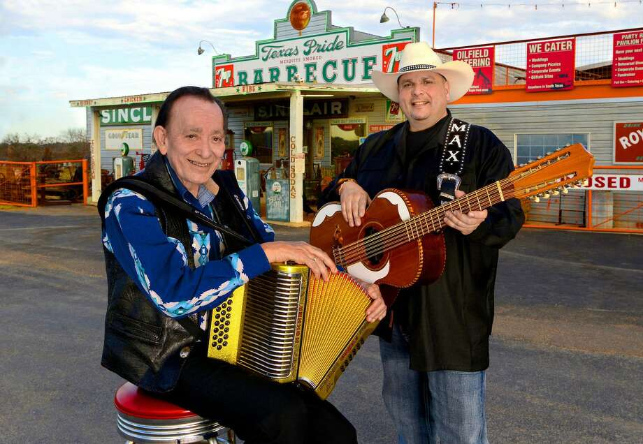 Flaco Jimenez (left) will join Max Baca & Los TexManiacs at Gruene Hall on Friday. Photo: Courtesy Tom Pich