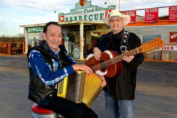 Flaco Jimenez (left) will join Max Baca & Los TexManiacs at Gruene Hall on Friday.