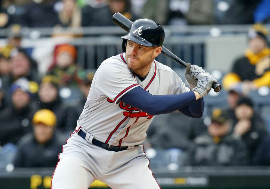PITTSBURGH, PA - APRIL 07:  Freddie Freeman #5 of the Atlanta Braves in action against the Pittsburgh Pirates on Opening Day at PNC Park on April 7, 2017 in Pittsburgh, Pennsylvania.  (Photo by Justin K. Aller/Getty Images) Photo: Justin K. Aller/Getty Images