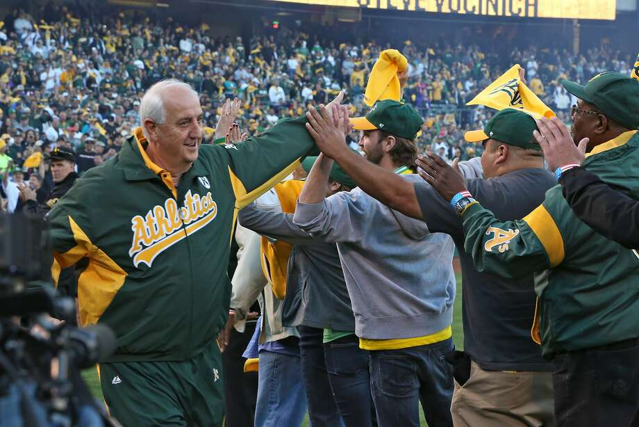 Oakland equipment manager Steve Vucinich is entering his 50th season with the club this season. Photo: Michael Zagaris, Oakland Athletics