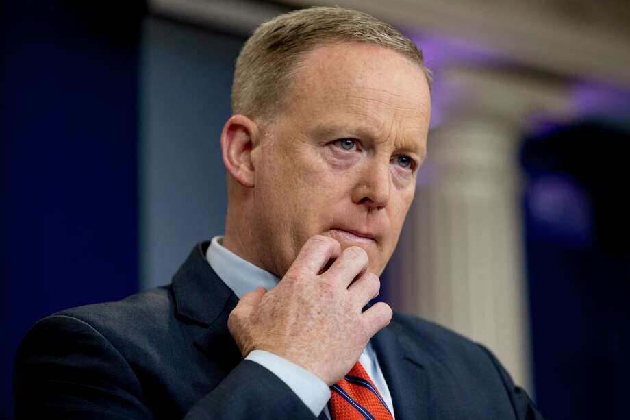 Sean Spicer is under  fire after comparing President Bashar Assad to Hitler. Photo: Andrew Harnik, STF / Copyright 2017 The Associated Press. All rights reserved.